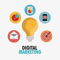 Compras, comércio eletrônico e marketing vetor