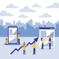 Conjunto de conceito de finanças de negócios