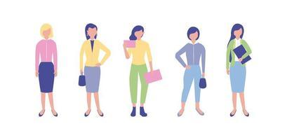 Conjunto de mulheres de negócios