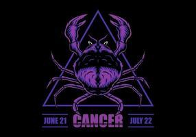 Signo de câncer vetor