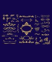Conjunto de design de moldura caligráfica vetor