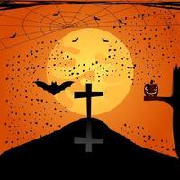 Fundo de noite de halloween vetor