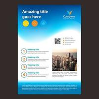 Design de brochura comercial de onda gradiente azul vetor