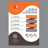 Brochura de negócios modernos de Design de ondas laranja e marrom vetor
