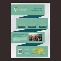Modelo de Brochura - negócios de uma página de fita verde vetor