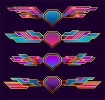 conjunto de banda de asas vetor