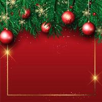 Fundo de quadro de árvore de Natal vetor