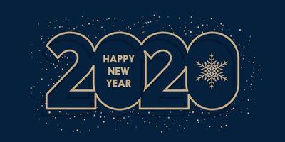 Feliz ano novo design minimalista banner vetor
