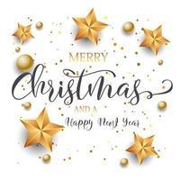 Saudação festiva de Natal e ano novo vetor