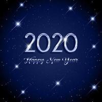 Feliz ano novo fundo estrelado