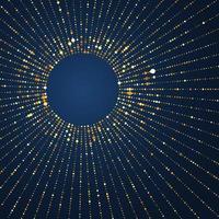 Fundo radial de pontos dourados vetor