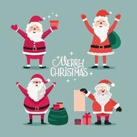 Feliz Natal Papai Noel vetor