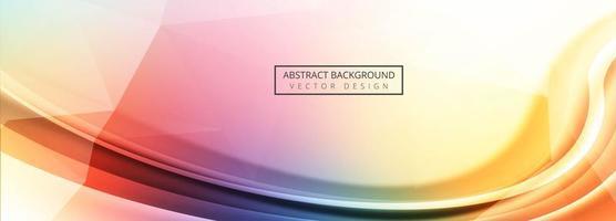 Fundo colorido moderno modelo de banner de onda