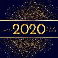 2020, ano novo, brilho, celebração, fundo vetor
