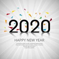 2020 feliz ano novo sinal vetor
