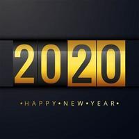 Ano novo 2020 cartão bonito fundo vetor