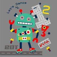 robô dançarino na rua vetor