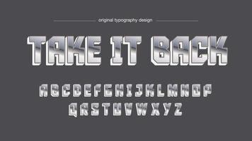 Design de letras maiúsculas do Chrome Sports