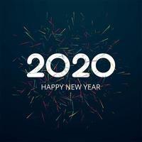 Celebração cartão 2020 feliz ano novo design vetor