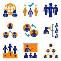 Conjunto de ícones de homem de negócios vetor