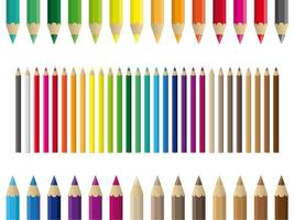 Conjunto de lápis coloridos coloridos vetor