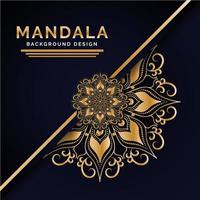 Design de fundo de mandala indiana de luxo vetor