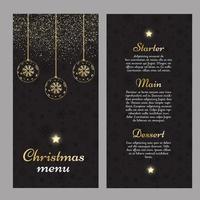 Design elegante de menu de Natal vetor
