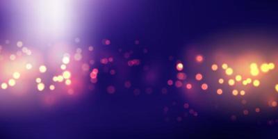 Design de banner de luzes de bokeh vetor