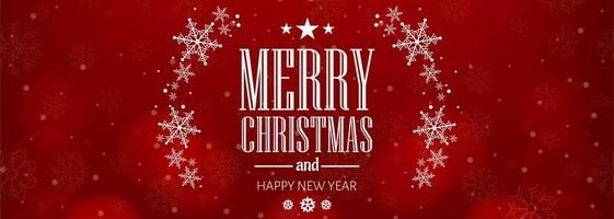 Lindo floco de neve de Natal cartão celebração banner fundo vetor