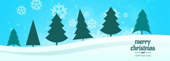 banner de natal para vetor de fundo de cartão de árvore de natal