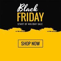 Sexta-feira negra amarela compras venda fundo de texto criativo vetor