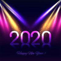 Fundo de ano novo de luzes de discoteca 2020 vetor