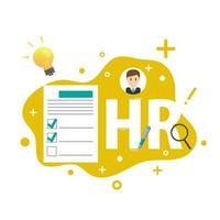 recursos humanos ou elementos de infográfico de gestão de RH vetor