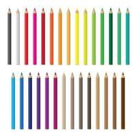 Conjunto de lápis de cor vetor