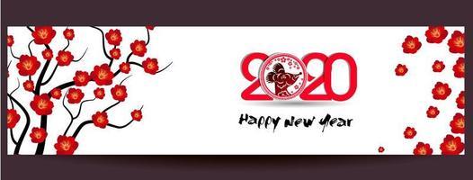 Feliz ano novo chinês 2020 Banner