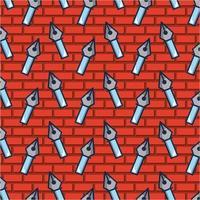 ponta de caneta no padrão de tijolo vetor
