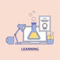 conceito de química de educação de aprendizagem vetor