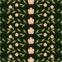 cartão de decoração de flores e folhas