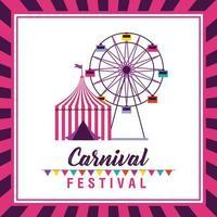 cartaz de festival de circo e carnaval justo