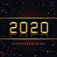 Feliz ano novo 2020 vetor