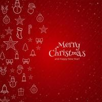 Cartão de feliz natal vetor