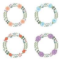 Conjunto de grinalda floral decoração