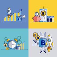 Conjunto de gráficos relacionados a negócios