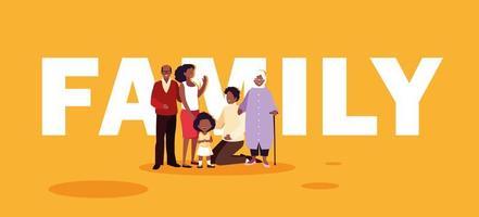 membros da família bonitos no cartaz