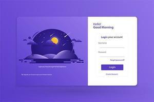 Formulário Login Ícone Página Inicial Modelo Design Ilustração Vetorial vetor