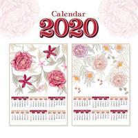 Calendário floral 2020