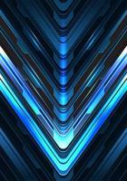 Direção de seta cinza azul claro abstrata em design escuro vetor