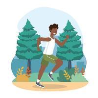 exercício de saúde do homem e atividade de corrida