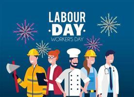 empregadores profissionais para o feriado do dia do trabalho
