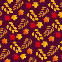 Padrão sem emenda de outono de ação de Graças
